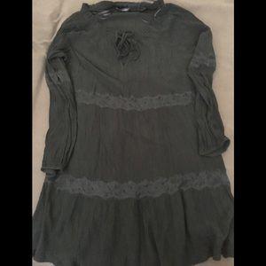 Zara flowy black dress
